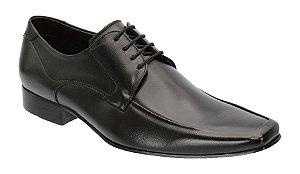 Sapato Social Clássico Masc. em Couro na Cor Preto + Brinde REF. 939-17500