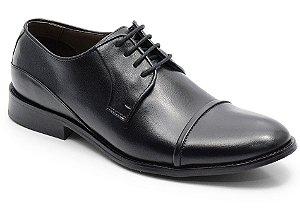 Sapato social classico em couro preto REF. 566-15754