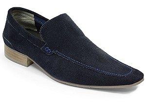 Mocassim em couro cor azul marinho REF. 944-18000