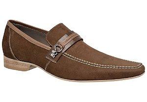 Sapato social esporte fino em couro cafe REF. 947-18639