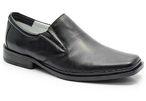 Sapato conforto antistress em couro preto REF. 577-2013