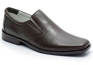 Sapato Conforto em Couro Cor Cafe