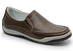Sider conforto em couro marrom REF. 584-6000