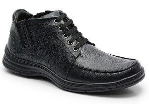 Coturno conforto em couro preto REF. 586-2093