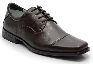 Sapato conforto em couro cafe REF. 587-2025