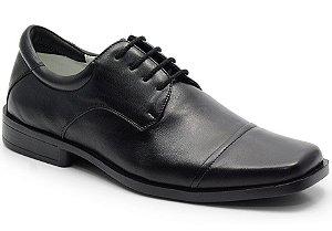 Sapato Linha Conforto em Couro na Cor Preto REF. 591-2025