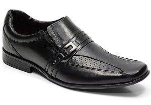 Sapato social em couro cor preto REF. 638-131