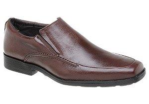 Sapato masculino conforto em couro na cor chocolate REF. 362-65112