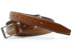 Cinto masculino em couro legitimo extra grande de 180cm cor telha REF. 3061-107