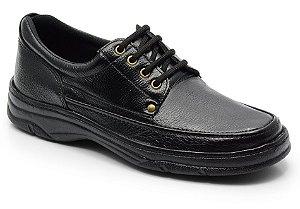 Sapato masculino em couro cor preto REF. 559-2020