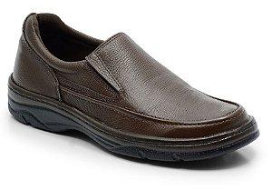 Sapato masculino em couro cor café REF. 562-2021