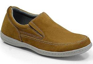 Sapato Masculino Linha Comfort Sportive em Couro Cor Capim REF. 653-2021-3