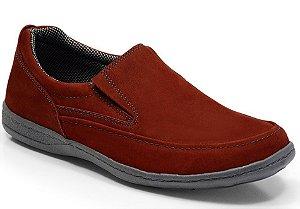 Sapato Masculino Confort Sportive em Couro Cor Vermelho REF. 656-2021-3