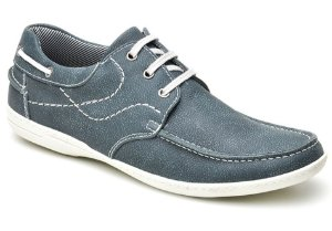 Docksider masculino em couro cor azul REF. 373-5000