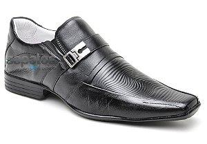 Sapato social conforto em couro cor preto REF. 376-322