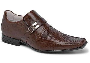 Sapato social conforto em couro cor chocolate REF. 439-322
