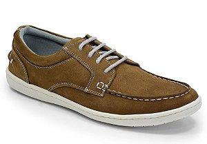 Sapato Masculino Comfort Sportive em Couro Cor Rato REF. 662-9068-3