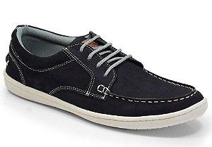 Sapato Masculino Comfort Sportive em Couro Cor Marinho REF. 663-9068-3