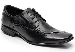 Sapato social em couro cor preto REF. 637-125