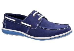 Docksider masculino em couro cor azul bic REF. 529