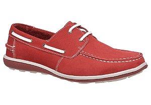 Docksider masculino em couro cor vermelho REF. 530
