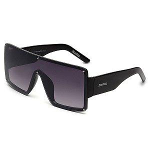 Óculos de Sol Pressão Rural Acetato Feminino Quadrado Lente Degradê Preto