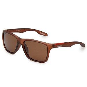 Óculos de Sol Pressão Rural Acetato Polarizado Masculino Marrom Fosco