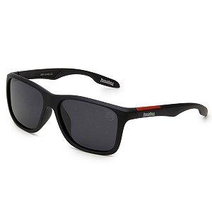 Óculos de Sol Pressão Rural Acetato Polarizado Masculino Preto Fosco