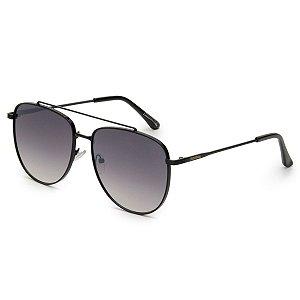 Óculos de Sol Pressão Rural Metal Caçador Unissex Preto Degradê