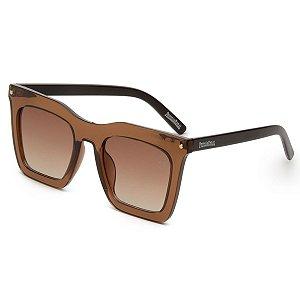 Óculos de Sol Pressão Rural Acetato Feminino Marrom