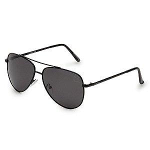 Óculos de Sol Pressão Rural Metal Aviador Unissex Preto
