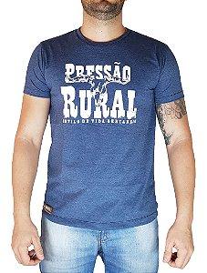 Camiseta Pressão Rural - Azul mescla Rodeio