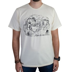 Camiseta Pressão Rural - Capiau Fazendeiro Bege
