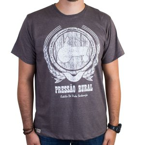 Camiseta Pressão Rural - Tonel de cachaça Marrom Mescla
