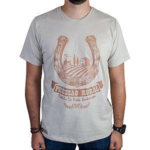 Camiseta Pressão Rural - Ferradura///Fazendeiro Bege