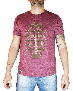Camiseta Pressão Rural - Viola Pagodeira Vinho Mescla