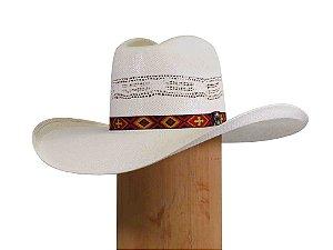 Chapéu Country Americano Pressão Rural - Branco