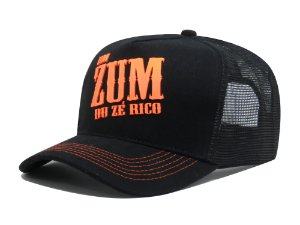 Boné Aba Curva Trucker Um Zum Du Zé Rico - Preto/Laranja