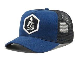 Boné Aba Curva Trucker Takar Pinga Ni Mim - Azul/Preto