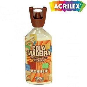 Cola Madeira 100 g Acrilex - uso proficional