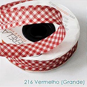 VIES XADREZ 20 METROS X 25MM CINDERELA - COR 216-VERMELHO