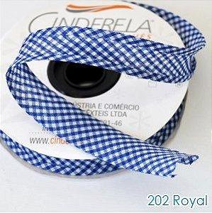 VIES XADREZ 20 METROS X 25MM CINDERELA - COR 202-ROYAL