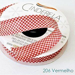 VIES XADREZ 20 METROS X 25MM CINDERELA - COR 206-VERMELHO