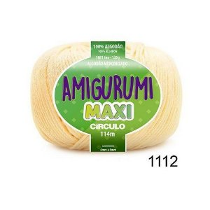 FIO AMIGURUMI MAXI 135 GR 114 MTS COR 1112 CREME