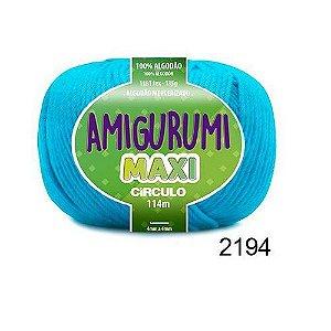 FIO AMIGURUMI MAXI 135 GR 114 MTS COR 2194 TURQUESA