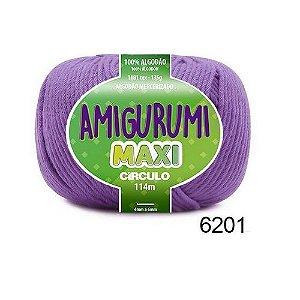 FIO AMIGURUMI MAXI 135 GR 114 MTS COR 6201 TECNO ROXO