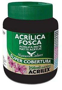 TINTA ACRILICA FOSCA PRETO 250 ML ACRILEX