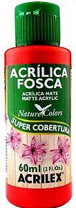 TINTA ACRILICA FOSCA VERMELHO FOGO NAT. COLORS 60 ML ACRILEX
