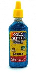 COLA GLITTER ACRILEX AZUL 23 G
