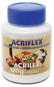 ACRIFLEX ENDURECEDOR E MODELADOR DE TECIDOS INCOLOR 120G